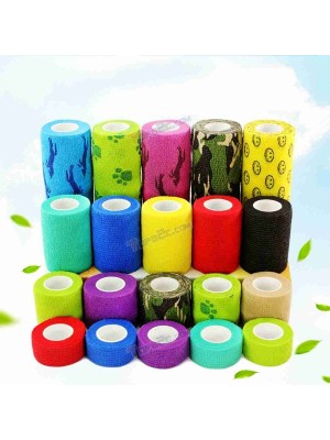 Colorful Self-Adhesive Elastic Bandage Finger Joint Wrap Injury Tape