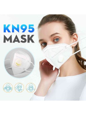 1 PCS KN95 Masks With breathing valve Filter Protective Mask