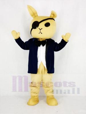 Rabbit Butler with Suit Mascot Costume Cartoon