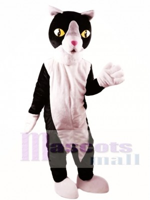 Black and White Cat Mascot Costume