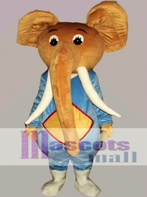 Coffee Elephant Mascot Costume Cartoon
