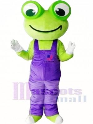 Cartoon Frog Mascot Costume