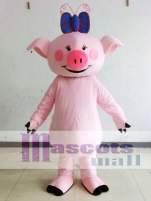 Character Adult Cute Pink Pig Mascot Costume
