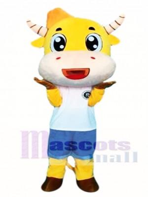 Cartoon Cow Mascot Costume