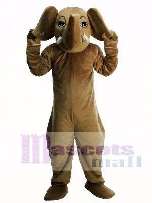 Brown Elephant Masot Costume