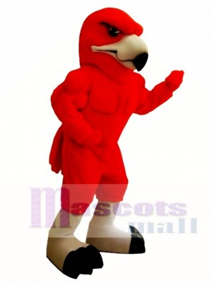 Power Red Hawk Mascot Costume