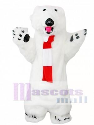 Furry Polar Bear Mascot Costume