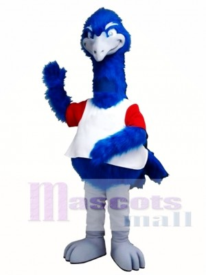 Big Tall Blue Bird Ostrich Mascot Costume