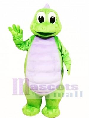 Cute Green Dinosaur Mascot Costume