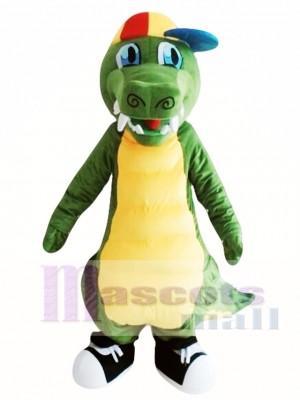 Adult Green Dinosaur Mascot Costume