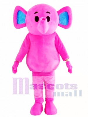 Cute Pink Elephant Mascot Costume