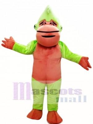 Green and Brown Chimpanzee Mascot Costume