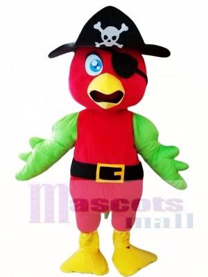 Pirate Parrot Mascot Costume