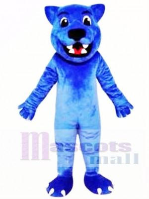 Blue Leopard Cute Panther Mascot Costume