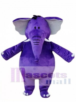 Purple Elephant Mascot Costumes