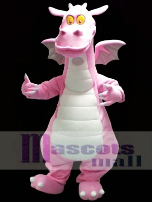 Pink Dragon Mascot Costume