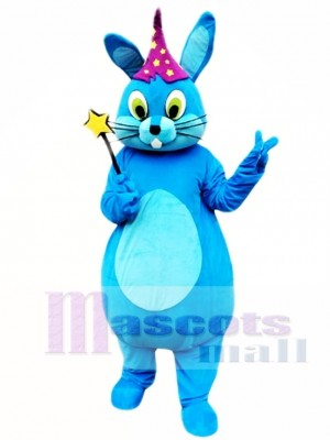 Blue Easter Bunny Rabbit Mascot Costume