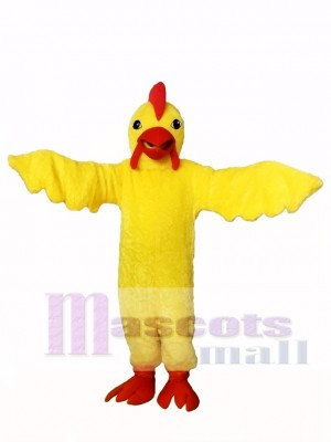 Yellow Realistic Chicken Mascot Costume