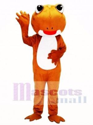 Brown Frog Mascot Costume