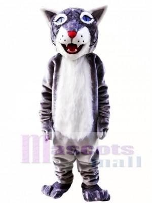 Grey Wildcat Bobcat Mascot Costume