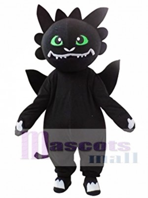 Black Dragon Mascot Costume