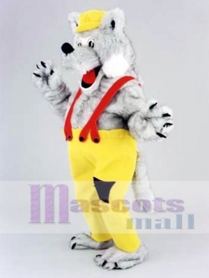 Happy Wolf Mascot Costume