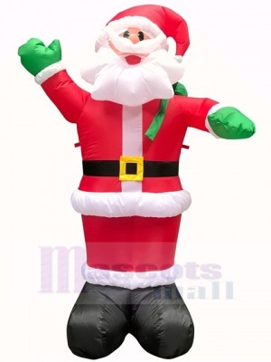 Christmas Inflatable Santa Claus with Gift Sack Outdoor Indoor Holiday Decoration Yard Lawn Home Outside Art Decor