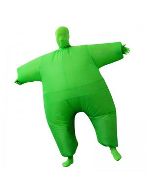 Green Full Body Suit Inflatable Halloween Christmas Costume for Adult