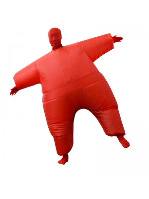 Red Full Body Suit Inflatable Halloween Christmas Costume for Adult