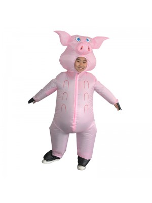 Pink Pig Inflatable Halloween Christmas Holiday Blow Up Costumes for Kid