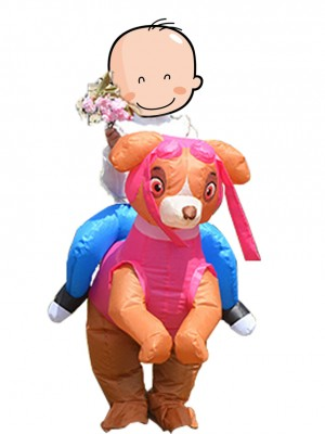 Paw Patrol Skye Pink Dog Carry Me Ride On Inflatable Costume
