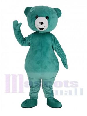 Cute Mint Green Teddy Bear Mascot Costume
