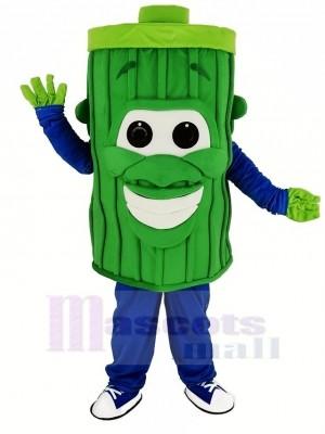 Green Garbage Trash Can Mascot Costume