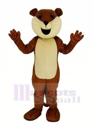 Brown Ollie Otter Mascot Costume Animal