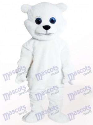 White Little Bear Adult Mascot Costume