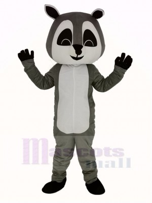 Gray Raccoon Mascot Costume Adult