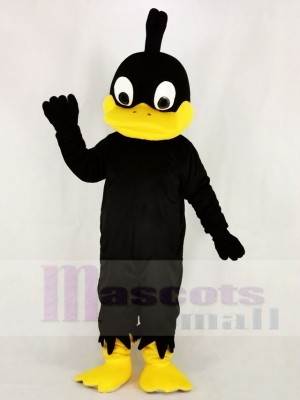 Black Duck with Yellow Mouth Mascot Costume College