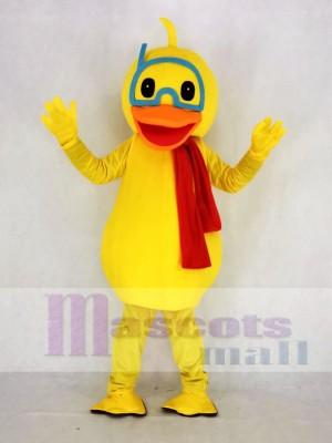 Cute Yellow Duck Mascot Costume School