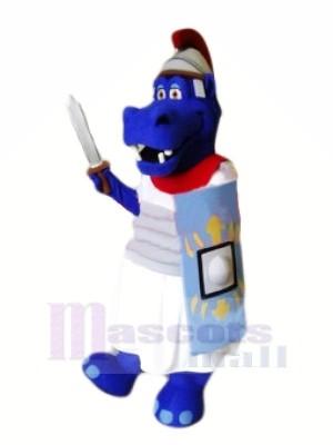 Brave Blue Hippo Mascot Costumes Animal
