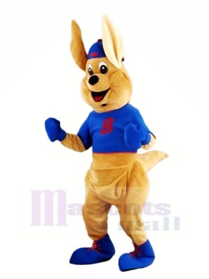 Boxing Kangaroo with Long Ears Mascot Costumes Animal