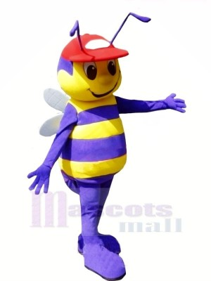 Boy Bee with Red Hat Mascot Costumes Animal