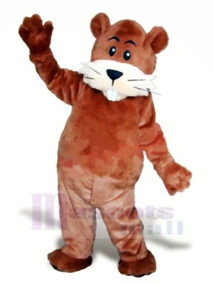 Cute Brown Beaver Mascot Costumes Animal