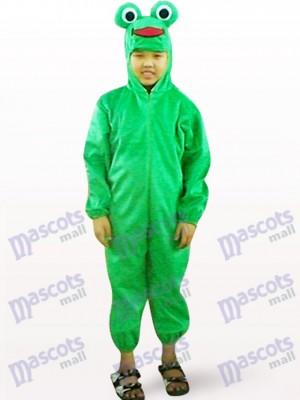 Green Frog Open Face Kids Mascot Costume