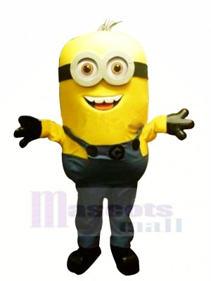 Two Eyes Smiling Minion Despicable Me Mascot Costumes Cartoon