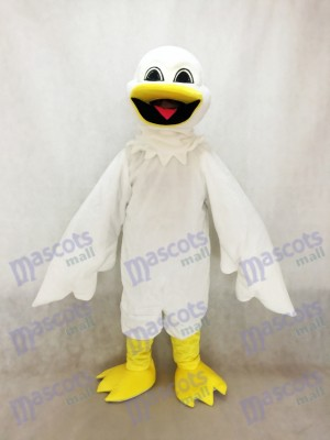 White Harold Bird Mascot Costume