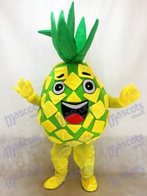 Yellow Pineapple Pete Fruit Mascot Costume