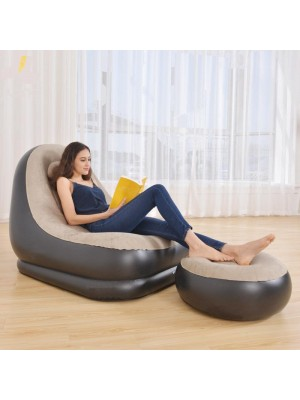 Inflatable Sofa with Ottoman Foot Stool Household Outdoor