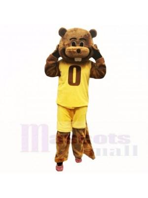 Sport Yellow Suit Beaver Mascot Costumes School