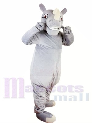 Happy Rhino Rhinoceros Mascot Costume Fancy Dress Custom Cosplay Theme Mascotte