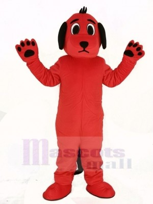 Red Dog with Black Ears Mascot Costume Animal